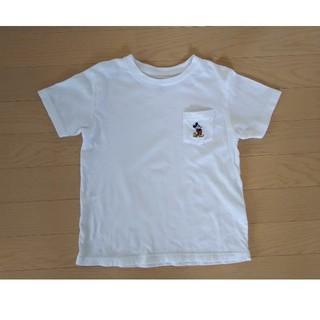 UNIQLO - ユニクロ ミッキーマウス 半袖Tシャツ 120 白 ホワイト UT ミッキー