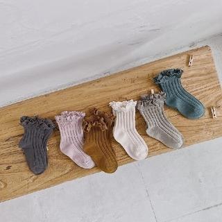 Caramel baby&child  - 新品 くすみカラー 靴下 ソックス 6色 セット フリル 淡いお色