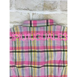 ウノピゥウノウグァーレトレ(1piu1uguale3)の1PIU1UGUALE3 バックロゴプリント チェックシャツ(シャツ)