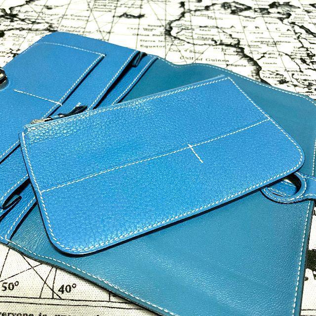Hermes(エルメス)のAランク【極美品】HERMES ドゴンGM 長財布 ブルー ジーン 二つ折り レディースのファッション小物(財布)の商品写真