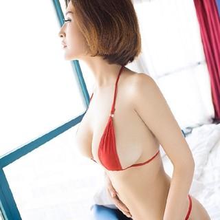 セクシー マイクロ紐ビキニ ブラジリアンビキニ♡フリーサイズ♡レッド(衣装)