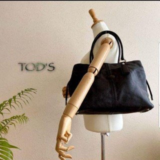 TOD'S - 新品同様★TOD'S★トッズ★ショルダーバッグ肩掛け鞄トートバッグ大判ハンドバッ