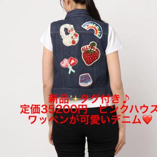 PINK HOUSE - 新品✨タグ付き♪ 定価35200円ピンクハウス ワッペンが可愛いデニムジャケット