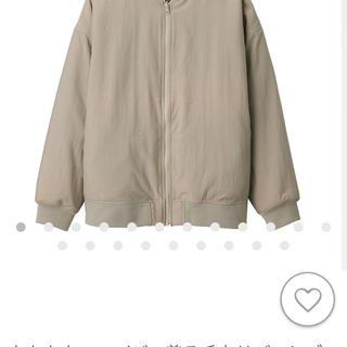 ムジルシリョウヒン(MUJI (無印良品))の無印良品 あたたかファイバー着る毛布リバーシブルブルゾン S~M・ライトベージュ(ブルゾン)