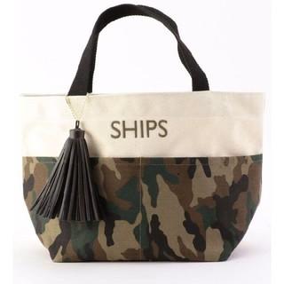 SHIPS - 新品 シップス フリンジ付きポケットトートバッグ