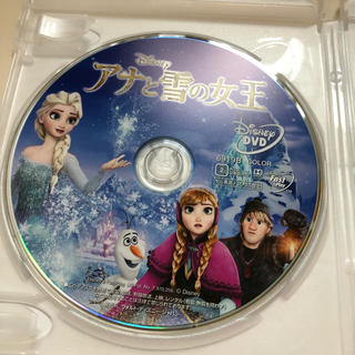 アナトユキノジョオウ(アナと雪の女王)の新品 未使用 ディズニー アナと雪の女王 DVDとケース(アニメ)