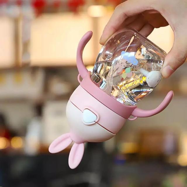 Pigeon(ピジョン)のうさ耳ストローマグ・ベビーマグ・水筒 270ml キッズ/ベビー/マタニティの授乳/お食事用品(水筒)の商品写真