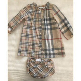 BURBERRY - Burberry キッズワンピース ブルマ付き 80
