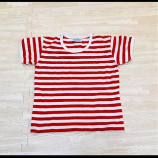 マリメッコ(marimekko)のmarimekko tasaraita Tシャツ 半袖 90 95 ボーダー(Tシャツ/カットソー)