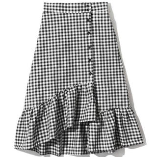 GRL - GRL(ギンガムチェックフリルマーメイドスカート)