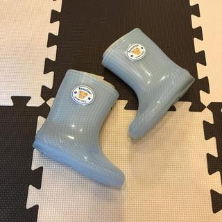 ファミリア(familiar)のファミリア 長靴 水色 新品未使用 15cm(長靴/レインシューズ)