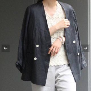 IENA - フレンチリネンツイルWブレストジャケット