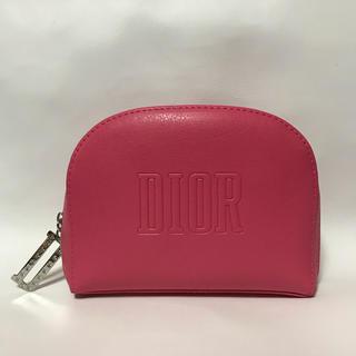Dior - 未使用 ディオール レザー調 コスメポーチピンク 桃色 DIOR