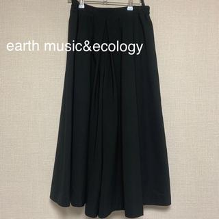 earth music & ecology - スカーチョ ワイドパンツ 黒 オールシーズン用