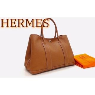 エルメス(Hermes)の高級 新品並美品 エルメス ガーデンパーティ PM ネゴンダ ブラウン Q刻印(トートバッグ)