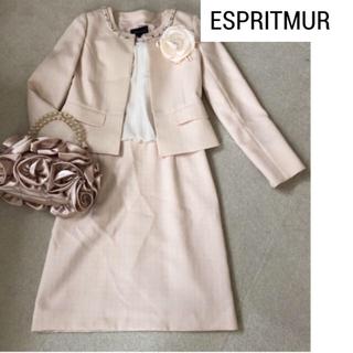 【L】ESPRITMUR ツイードスーツ ピンク 卒業式 入学式 七五三