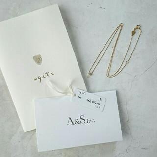 agete - agete K18ネックレス ダイヤモンド