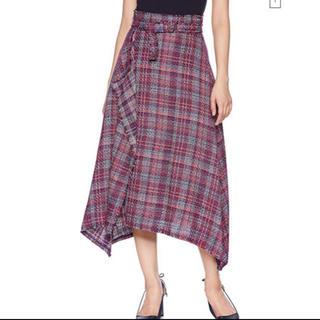 ミラオーウェン(Mila Owen)のツイードヘムラインスカート(ロングスカート)