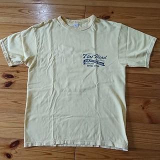 フラットヘッド(THE FLAT HEAD)のメンズTシャツ(黄色)(Tシャツ/カットソー(七分/長袖))