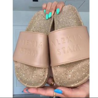 ALEXIA STAM - alexiastam  Slide Sandals Beige S ♡袋付き