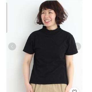 bulle de savon - bulle de savon オールドコット天竺レース付きハイネック半袖Tシャツ