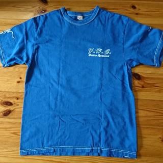 フラットヘッド(THE FLAT HEAD)のメンズTシャツ(青)(Tシャツ/カットソー(七分/長袖))