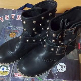 ヒステリックミニ(HYSTERIC MINI)のスタッズブーツ Lサイズ(ブーツ)
