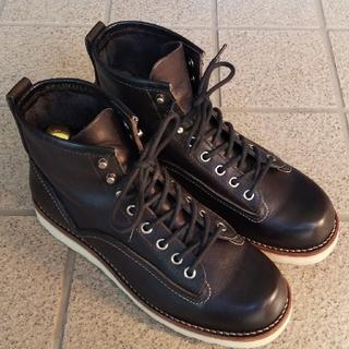 ホーキンス(HAWKINS)のHAWKINS メンズ ワークブーツ 黒 美品(ブーツ)
