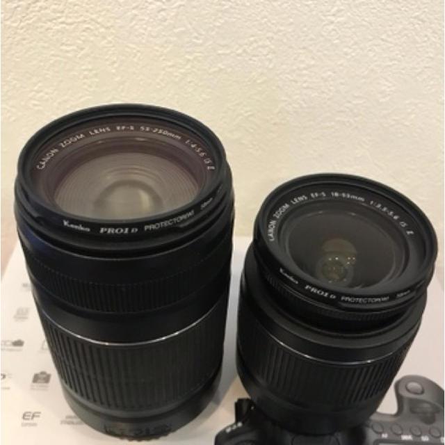 Canon(キヤノン)のCanon EOS 60D ダブルズーム デジタル一眼レフ キヤノン イオス スマホ/家電/カメラのカメラ(デジタル一眼)の商品写真