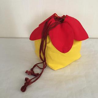 ミツコシ(三越)のお花モチーフ 浴衣用 巾着袋(和装小物)