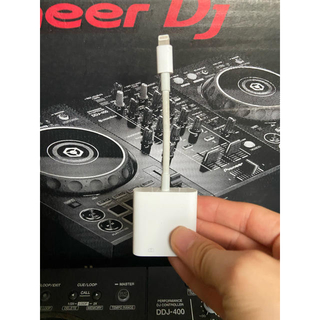 パイオニア(Pioneer)のddj 400 Apple純正品携帯プレイ用アダプタ付き(PCDJ)
