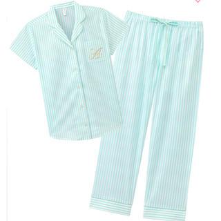 エメフィール(aimer feel)のaimerfeel エメフィール半袖 ロングパンツパジャマ 上下セット Mサイズ(ルームウェア)