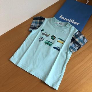 ファミリア(familiar)のファミリア⭐︎異素材 トップス 90(Tシャツ/カットソー)