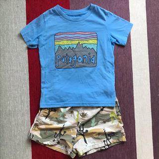パタゴニア(patagonia)のパタゴニア  バギーズショーツ tシャツ セット 5T(パンツ/スパッツ)