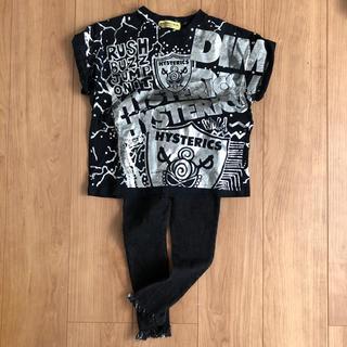ヒステリックミニ(HYSTERIC MINI)のサイズ100 上下セット (Tシャツ/カットソー)