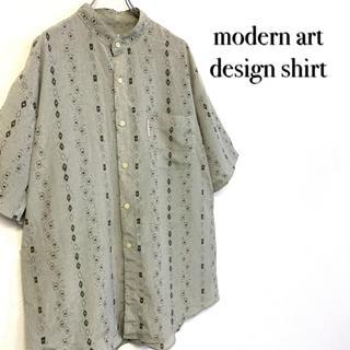 ステファノバレンチノ(STEFANO VALENTINO)の美品 stefano valentino スタンドカラー デザインポリシャツ (シャツ)