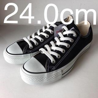 CONVERSE - 新品 コンバース オールスター OX  BK ブラック 24.0cm