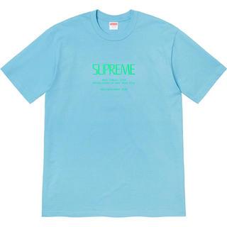 シュプリーム(Supreme)の【M】supreme Anno Domini Tee Light Blue(Tシャツ/カットソー(半袖/袖なし))