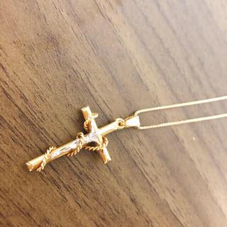 agete - 18金 十字架 ネックレス