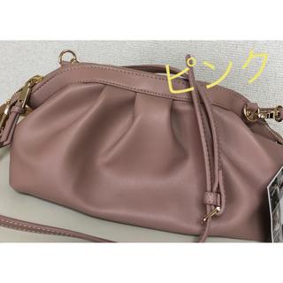シマムラ(しまむら)の新品未使用【MUMU】ギャザーショルダーバッグ ピンク(ショルダーバッグ)