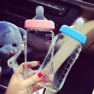 iPhone6/6s 哺乳瓶ケースブルー(iPhoneケース)