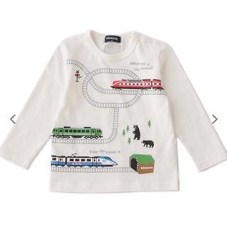 クレードスコープ(kladskap)の新品 クレードスコープ 90 クマ 電車(Tシャツ/カットソー)