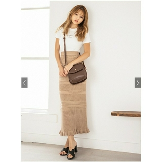 GRL - GRL★透かし編みニットスカート