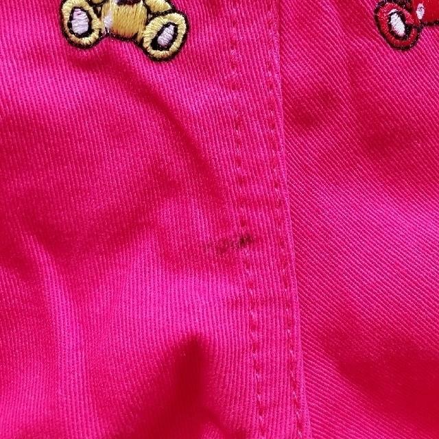 HYSTERIC MINI(ヒステリックミニ)の新品 テディ刺繍カラーパンツ キッズ/ベビー/マタニティのキッズ服男の子用(90cm~)(パンツ/スパッツ)の商品写真