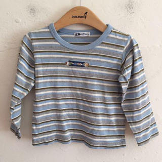 ファミリア(familiar)のfamiliar ファミリア 長袖ボーダーTシャツ サイズ100(Tシャツ/カットソー)