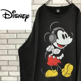 ディズニー(Disney)の【激レア】ディズニー☆ ミッキー キャラクタービッグロゴ薄手スエット90s(スウェット)