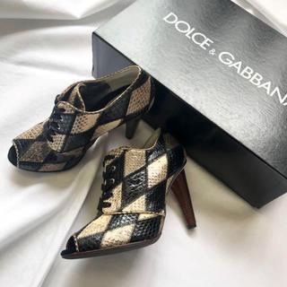 DOLCE&GABBANA - 極美品 ドルチェアンドガッバーナ ブーティー 23cm ブラック系