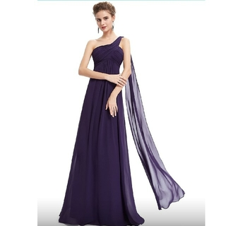 GRACE CONTINENTAL - 高貴な紫のロングドレス 【911】