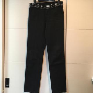 プラダ(PRADA)の美品 PRADA スタッズ スキニーパンツ 黒 BLACK デニム スタッド(デニム/ジーンズ)