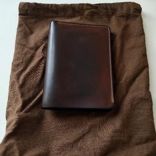 ガンゾ(GANZO)のARTS&CRAFTSアーツアンドクラフツ シェルコードバン 二つ折り財布 茶(折り財布)